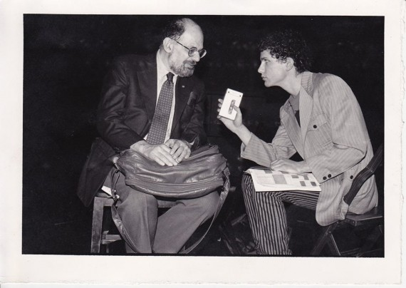 Pat Thomas interviewing Ginsberg in 1984.