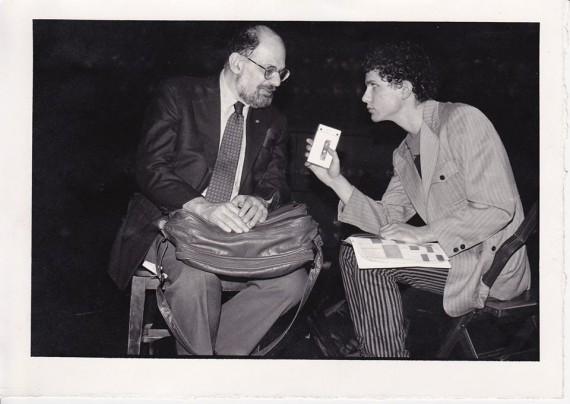 Pat Thomas interviewing Ginsberg in 1984.